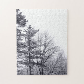 Snow-covered Trees: Vertical Jigsaw Puzzle
