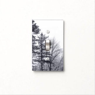 Snow-covered Trees: Vertical Light Switch Cover