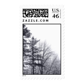 Snow-covered Trees: Vertical - Medium Postage Stamps