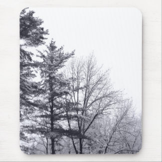 Snow-covered Trees: Vertical Mouse Pad