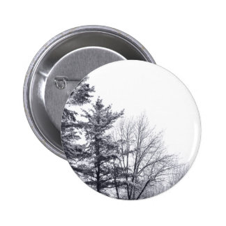 Snow-covered Trees: Vertical Pinback Button
