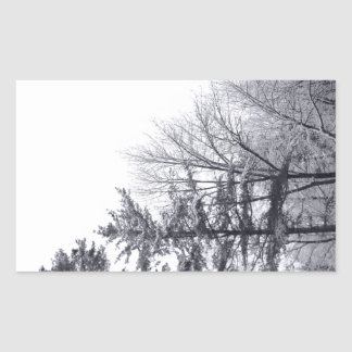 Snow-covered Trees: Vertical Rectangular Sticker