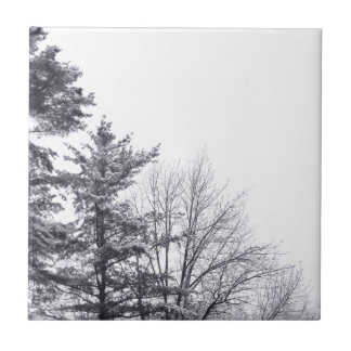 Snow-covered Trees: Vertical Small Square Tile