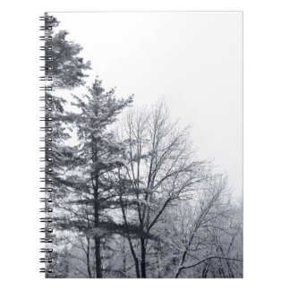 Snow-covered Trees: Vertical Spiral Notebook