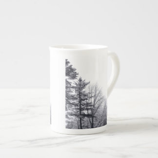 Snow-covered Trees: Vertical Tea Cup