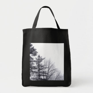 Snow-covered Trees: Vertical Tote Bag