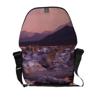 Snow-covered tufas messenger bag