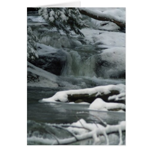 Snow Covered Waterfall Greeting Cards Zazzle