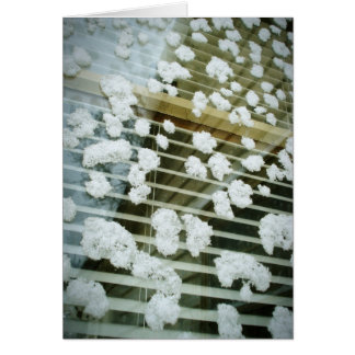 Snow Covered Window Greeting Card