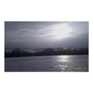 Snow-covered winter dream poster