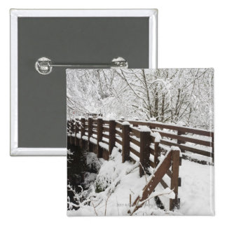 Snow Covered Wooden Bridge Pins