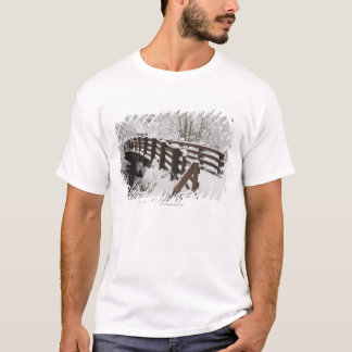 Snow Covered Wooden Bridge T-Shirt