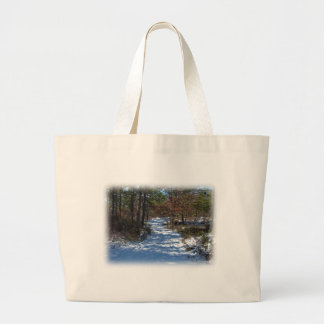 Snow Covered Woodland Path Bag