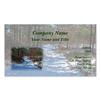 Snow Covered Woodland Path Business Card Templates