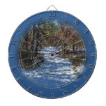 Snow Covered Woodland Path in Winter Dartboards