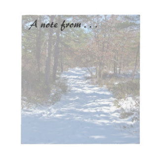 Snow Covered Woodland Path Notepad