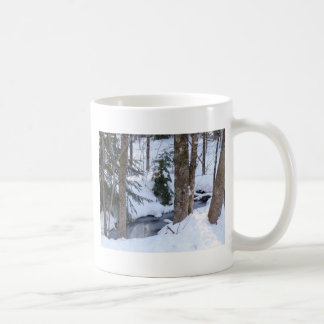 Snow Covered Woods Classic White Coffee Mug