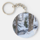 Snow Covered Woods Key Chains