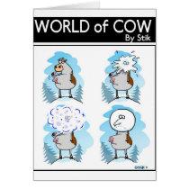 Snow Cow Card