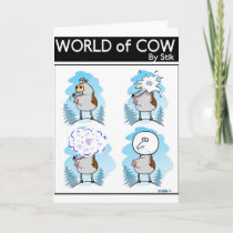 Snow Cow Holiday Card