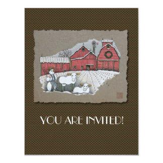 Snow Cows & Barn Card