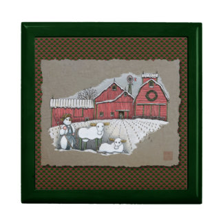 Snow Cows & Barn Keepsake Boxes