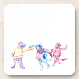Snow Cows Beverage Coaster