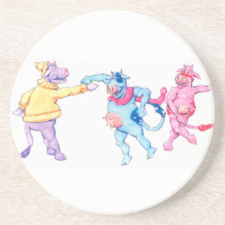 Snow Cows Drink Coaster