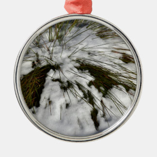 SNOW CRADLE MOUNTAIN TASMANIA AUSTRALIA METAL ORNAMENT