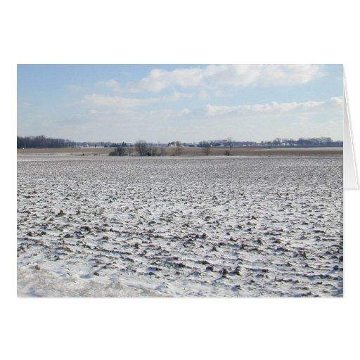 Snow Crop Christmas card