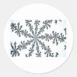snow crystal Art Round Sticker