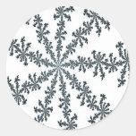 snow crystal Art Stickers