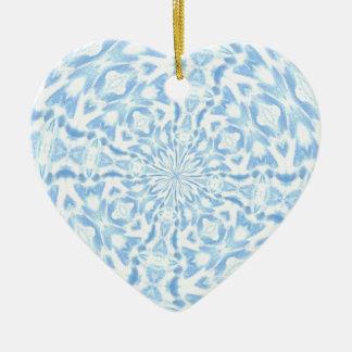 Snow Crystal Kladescope Ceramic Ornament