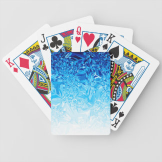 Snow Crystals Bicycle Playing Cards