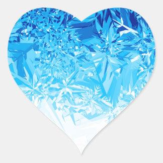 Snow Crystals Heart Sticker