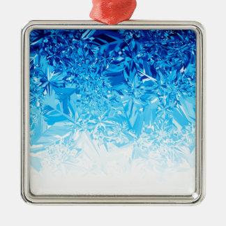 Snow Crystals Metal Ornament