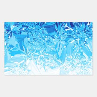Snow Crystals Rectangular Sticker