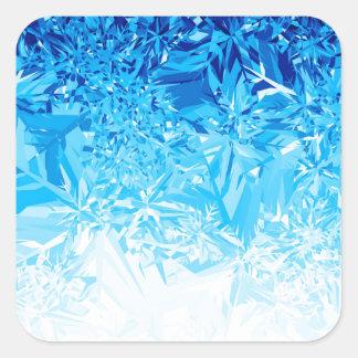 Snow Crystals Square Sticker