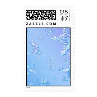 Snow Crystals Stamp
