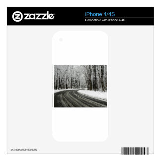 Snow Curved Winding Road Decal For iPhone 4