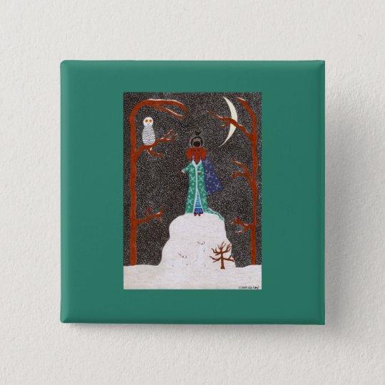 Snow Dachshund Button