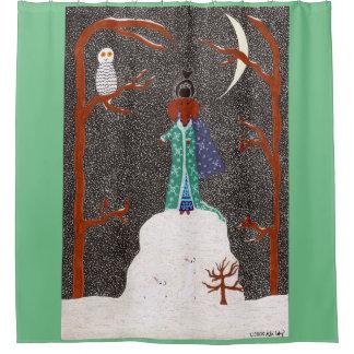 Snow Dachshund Shower Curtain