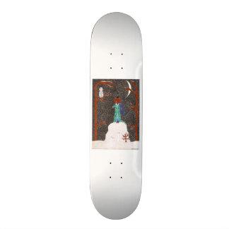 Snow Dachshund Skateboard Deck