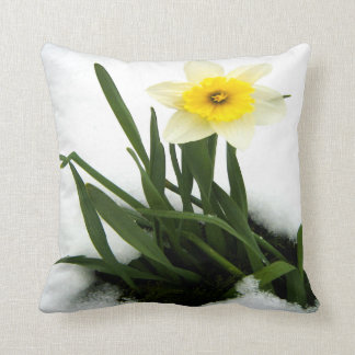 Snow Daffodil Pillows