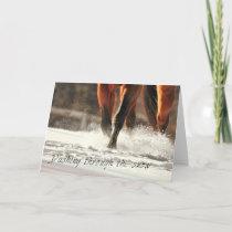 SNOW DASH 5x7 GREETING CARD
