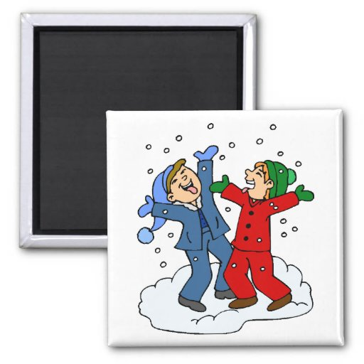 Snow Day! 2 Inch Square Magnet
