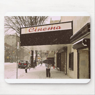 Snow Day At The Cinema Mouse Pad