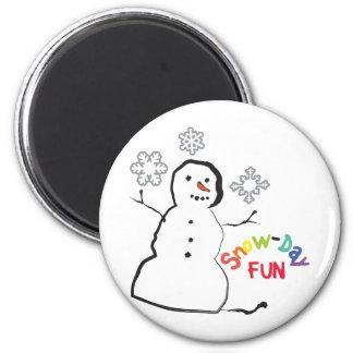 Snow-Day Fun Magnet