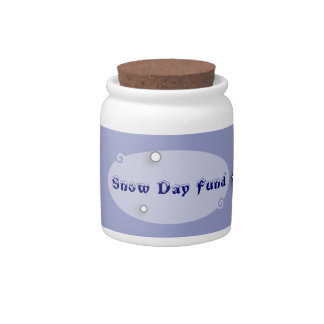 Snow Day Fund Jar Candy Dish