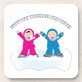 Snow Day Holidays Beverage Coaster